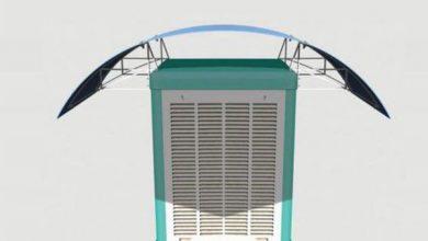 عکس از سایبان کولر آبی چقدر موجب صرفه جویی برق می شود؟
